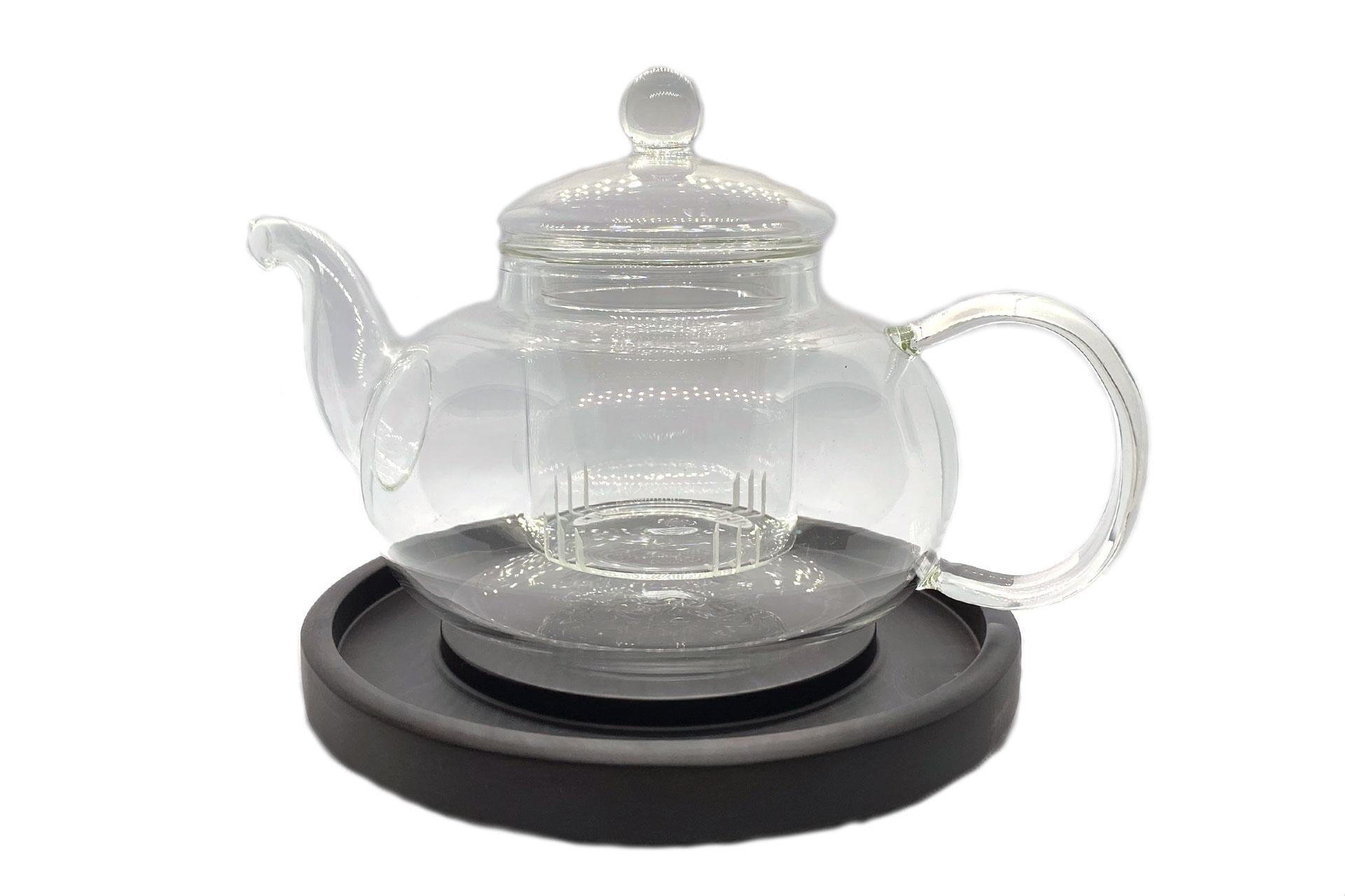 Чайник стеклянный со стеклянной колбой