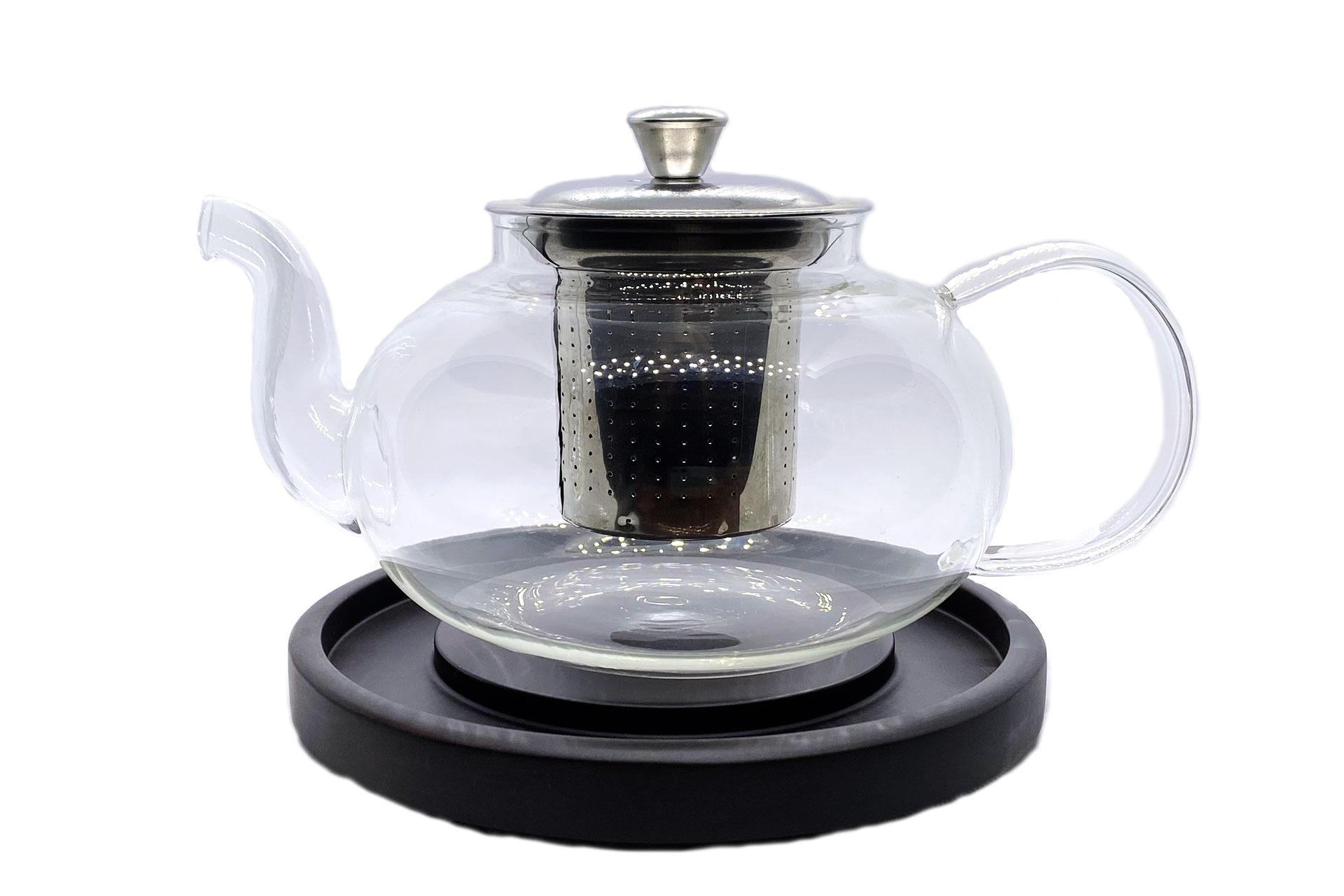 Чайник стеклянный с железной колбой 1