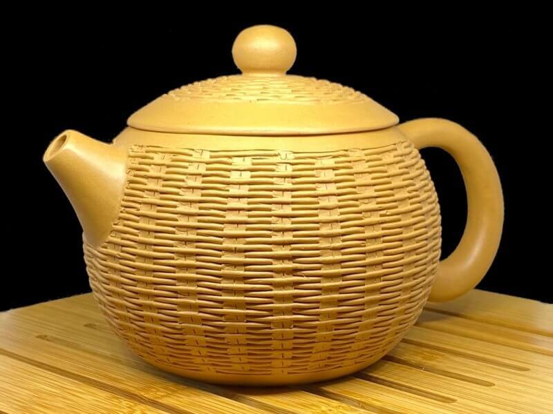 Чайник из исинской глины Си Ши (корзиночка)