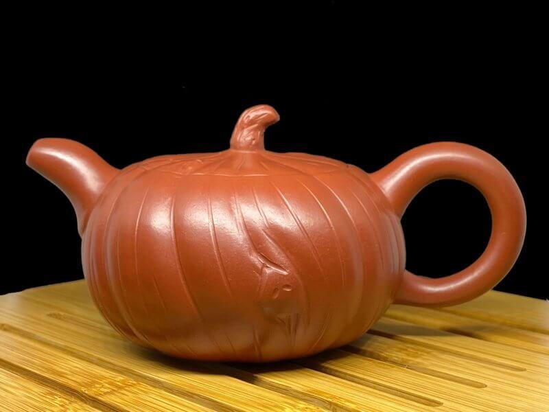 Чайник из исинской глины тыква плоская