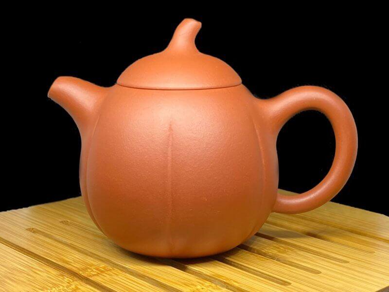 Чайник из исинской глины тыква высокая