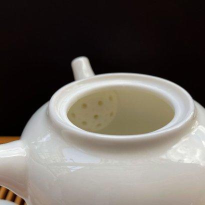 Чайник из фарфора белый #10,200-мл.