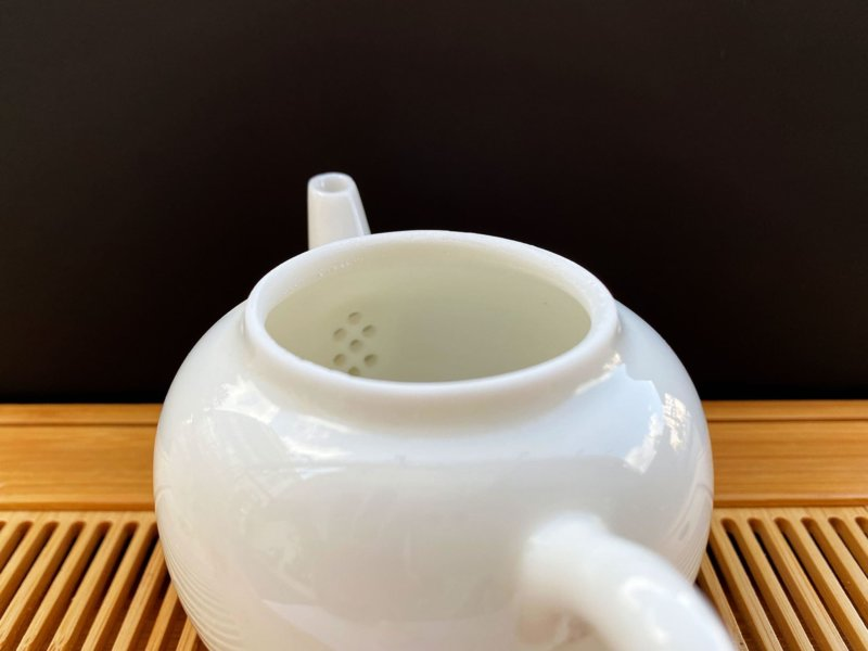 Чайник-из-фарфора-белый-#7,-170-мл.