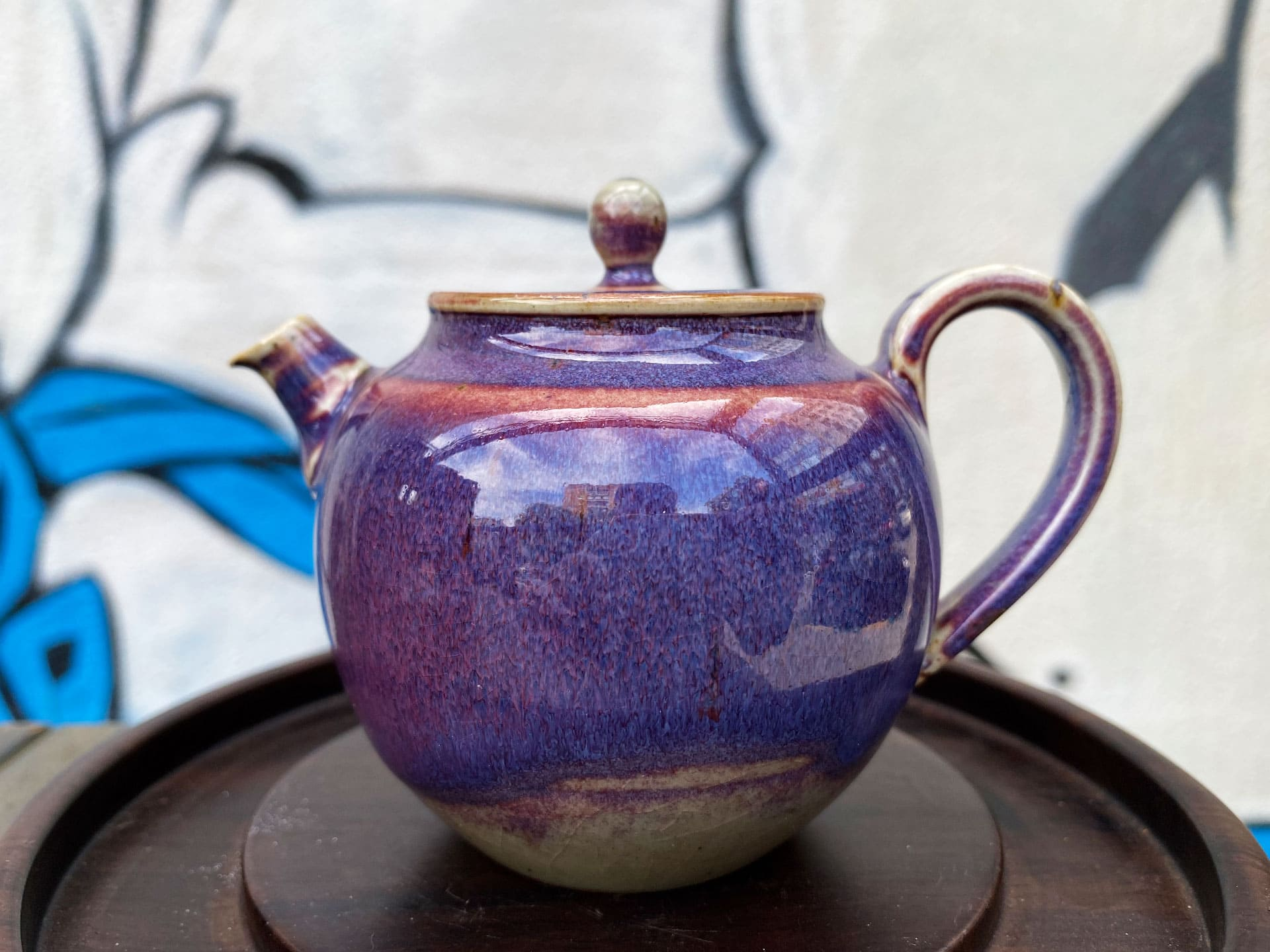 Керамический чайник Цзиндэчжэнь (фиолетовый)