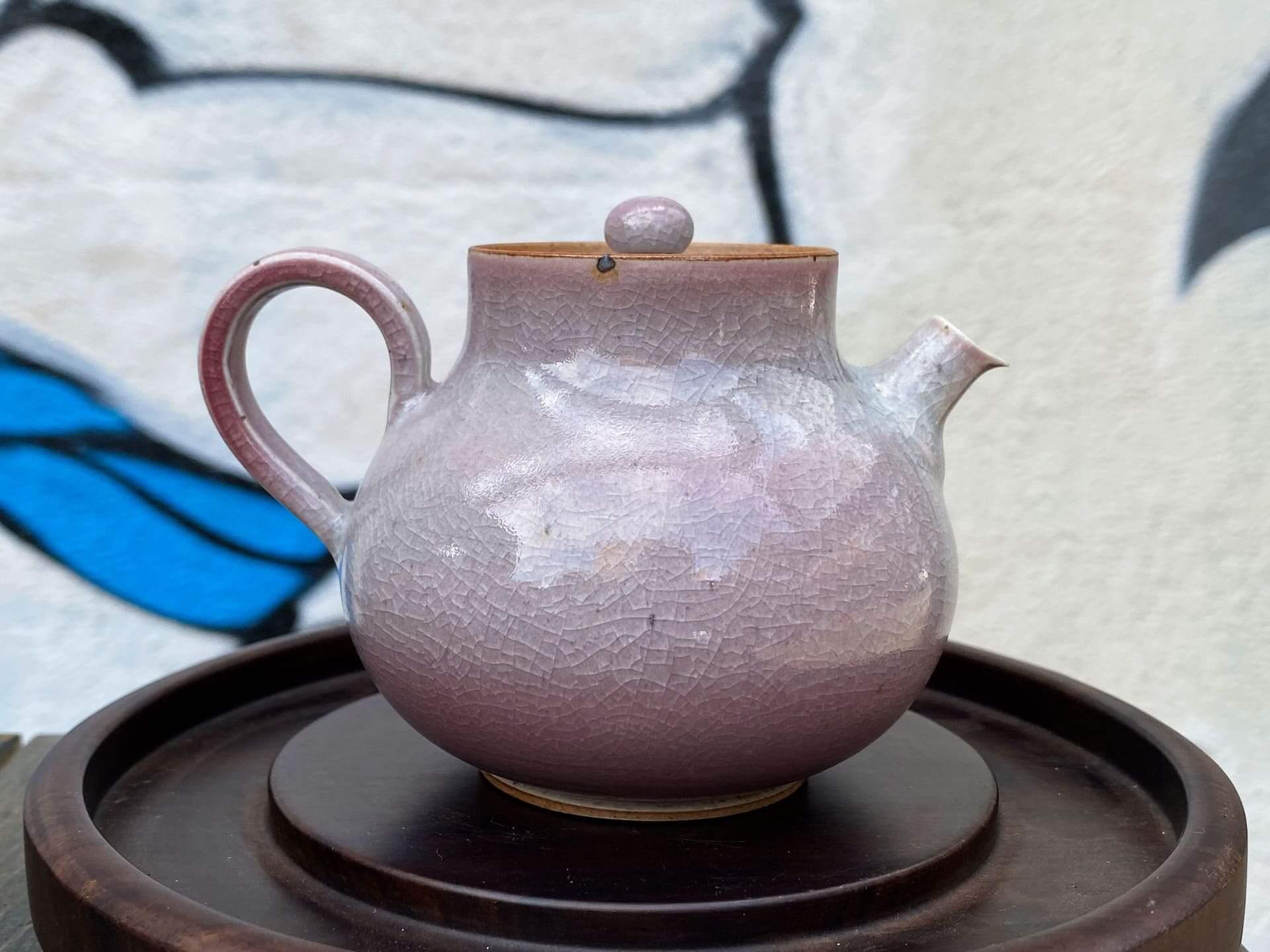 Керамический чайник Цзиндэчжэнь (розовый)