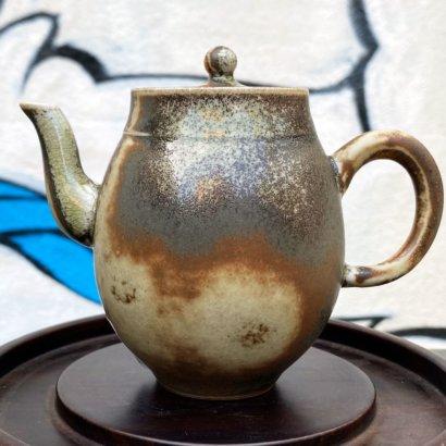Керамический чайник Цзиндэчжэнь (высокий зеленый)