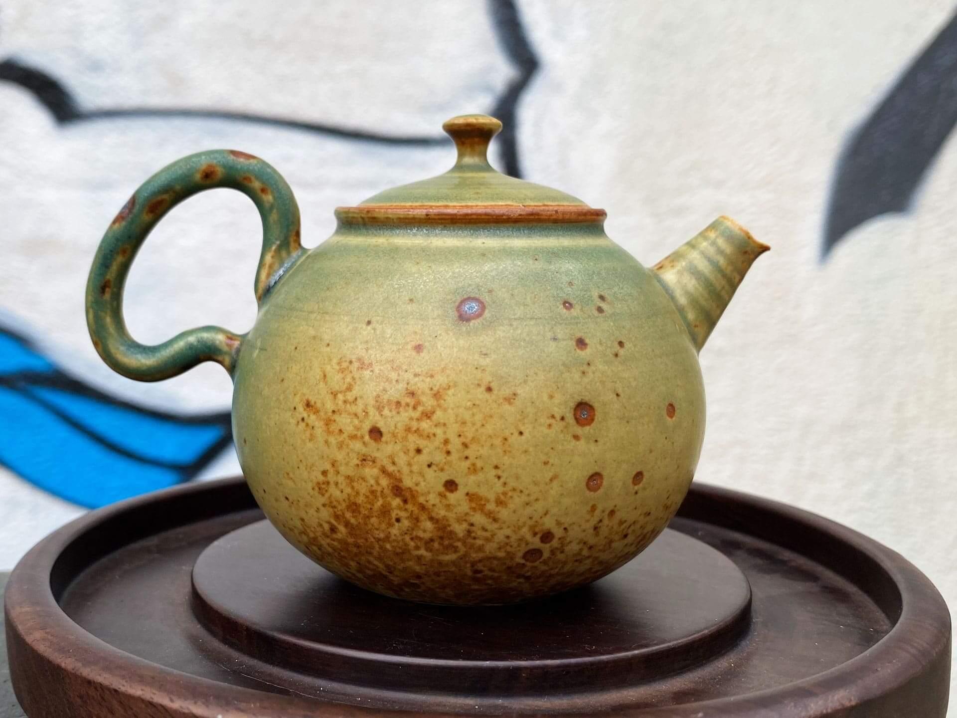 Керамический чайник Цзиндэчжэнь (зеленый)