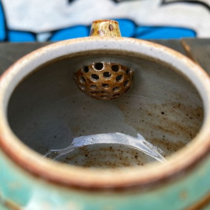 Керамический-чайник-Цзиндэчжэнь-(зеленый-блестящий)