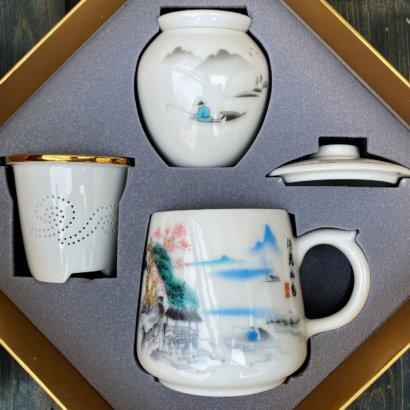 Набор с кружкой и чайницей